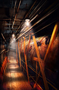 Light Beams Art - Steampunk - Plumbing - The hallway by Mike Savad