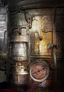 Contraption Prints - Steampunk - Silent into the night Print by Mike Savad