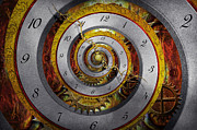 Clock Hands Prints - Steampunk - Spiral - Infinite time Print by Mike Savad