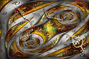 Abstracted Posters - Steampunk - Spiral - Space time continuum Poster by Mike Savad