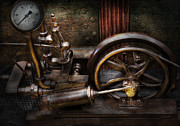 Industrial Metal Prints - Steampunk - The Contraption Metal Print by Mike Savad