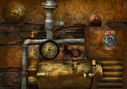 Device Framed Prints - Steampunk - The device Framed Print by Mike Savad