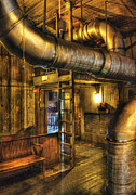 Vent Posters - SteamPunk - Where the pipes go Poster by Mike Savad