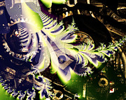 Technical Art - Steampunk Abstract Fractal . S2 by Wingsdomain Art and Photography