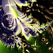 Steampunk Abstract Fractal . Square . S2 Print by Wingsdomain Art and Photography