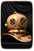 Brass Helmet Posters - Steampunk - Diving - Diving Helmet Poster by Paul Ward