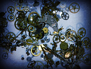 Watch Parts Prints - Steampunk Gears - Time Destroyed Print by Paul Ward