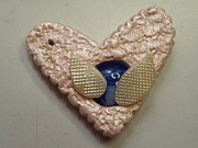 Paint Jewelry - Steampunk Heart Necklace 2 by Megan Brandl