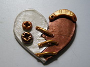 Paint Jewelry - Steampunk Heart Pin 1 by Megan Brandl