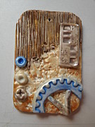 Paint Jewelry - Steampunk Necklace 1b by Megan Brandl