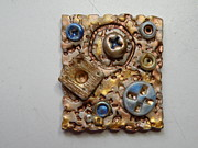 Paint Jewelry - Steampunk Pin 5 by Megan Brandl