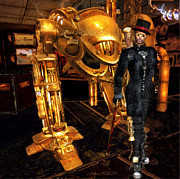 Golds Prints - STEAMPUNK The Gentleman Assassin Print by Rosy Hall