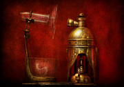 Contraption Posters - Steampunk - The Torch Poster by Mike Savad