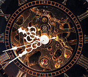 Clock Hands Prints - Steampunk Time Print by John Rizzuto
