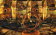 3d Graphic Digital Art - Steampunk Time Lab by Jutta Maria Pusl