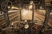 Gauges Posters - Steampunk Time Machine Poster by Keith Kapple