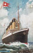 Steamship Titanic Print by Photo Researchers