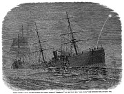 1878 Photos - Steamships Collision, 1878 by Granger
