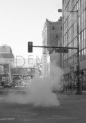 16th St. Mall Posters - Steamy LoDo Poster by Rhonda DePalma