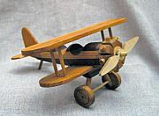 Toy Sculptures - Stearman Biplane by Tim Kiehl