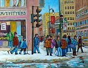 Ste.catherine And Peel Streets Print by Carole Spandau