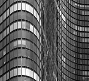Black And White Photography Metal Prints - Steel And Glass Curtain Wall Metal Print by Photo by John Crouch