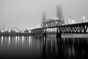 Steel Photo Metal Prints - Steel Bridge Metal Print by Brian Bonham