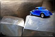 Ford Street Rod Framed Prints - Steel Canyon Framed Print by John Melton