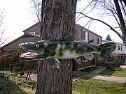Fishing Sculpture Originals - Steel Chanel Catfish by Todd Timler