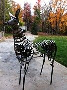Deer Sculpture Originals - Steel Deer by Todd Timler