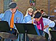Steel Drum Framed Prints - Steel Doin It Steel Drum Band at ArtPrize 2011 Framed Print by Ruth Hager
