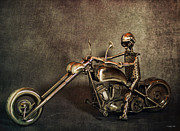 Bike Rider Digital Art - Steel Horse 2 by Peter Chilelli