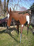 Outside Sculptures - Steel horse by Todd Timler