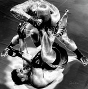 Mma Photos - Steel Men Fighting 3 by Frederic A Reinecke