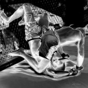Mma Photos - Steel Men Fighting 7 by Frederic A Reinecke