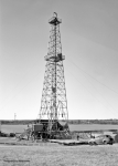 Oil Field Prints - Steel Oil Derrick Print by Larry Keahey