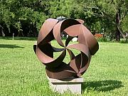 Curves Sculptures - Steel Spiral by Y Domenge