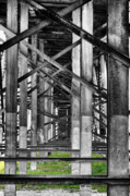 Industrial Background Posters - Steel support Poster by Rudy Umans