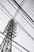 Electricity Prints - Steel Tower Print by Ebiq