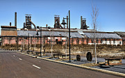 Bethlehem Prints - Steel Works I Print by Chuck Kuhn