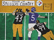 Pittsburgh Painting Framed Prints - Steelers Country Framed Print by Jeffrey Koss
