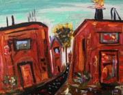 Outsider Art Paintings - STEELWORKS by MCW by Mary Carol Williams