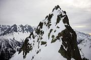Chamonix Framed Prints - Steep mountain Chamonix france Framed Print by Pierre Leclerc