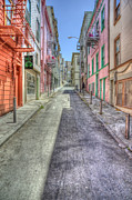 City Street Metal Prints - Steep Street Metal Print by Scott Norris