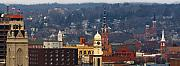 Mississippi River Photos - Steeples of Dubuque by Jane Melgaard