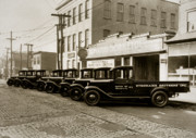 Beer Photos - Stegmaier Brothers Inc Beer Trucks at 693 Hazle Ave Wilkes Barre PA 1930s by Arthur Miller