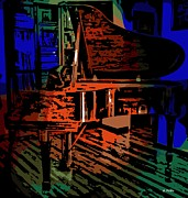 Grand Piano Digital Art - Steinway Piano by George Pedro