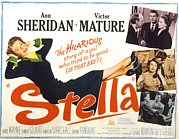 Stella Art Framed Prints - Stella, Ann Sheridan, 1950 Framed Print by Everett