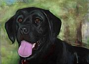 Black Dogs Framed Prints - Stella Luna Framed Print by Frances Marino