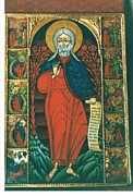 Orthodox Painting Originals - St.Ellyah with scenes of his life by Jelio Jelev